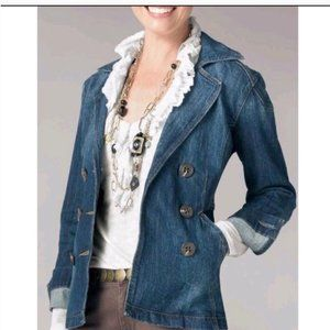CAbi Jeans Double Breasted Vintage Look Jacket M